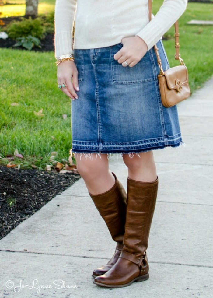 Denim Skirt With Boots 86