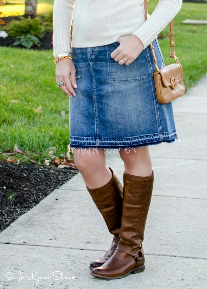 Jean Skirt With Boots 5