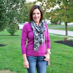 Fashion Over 40: Grey + Fuscia