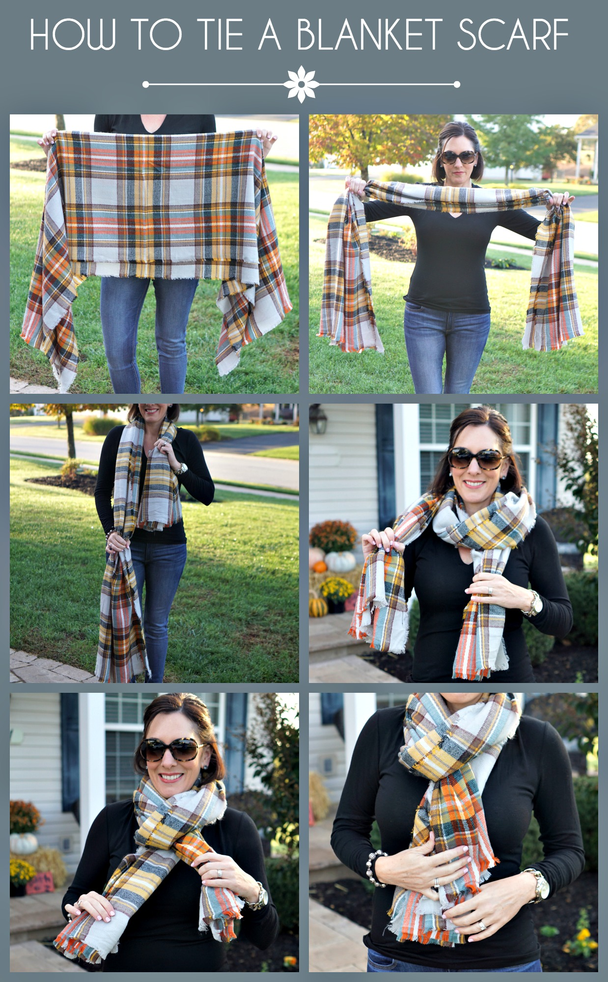3 easy ways to tie a blanket scarf how to tie a blanket scarf ccuart Choice Image