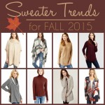 Wearable Sweater Trends for Fall 2015