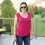 Daily Mom Style: Tulip Top + Cropped Jeans