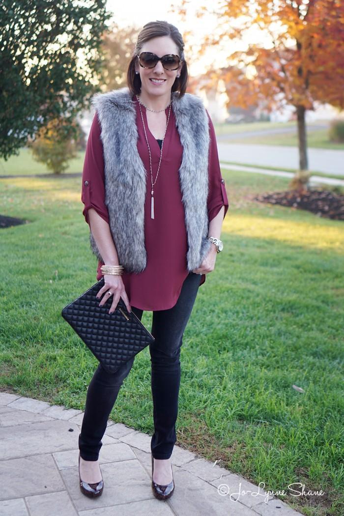 How to Wear a Fur Vest