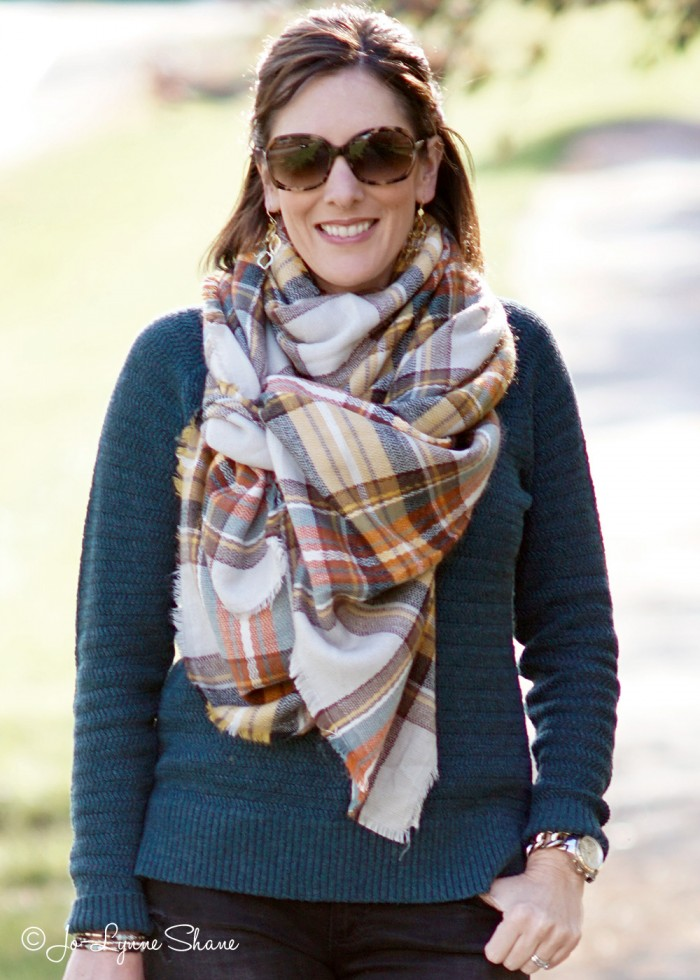 How to Tie An Oversized Scarf: The Celebrity Knot | Fashion Over 40 | Jo-Lynne Shane