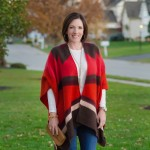 Open Front Poncho + Bootcut Jeans