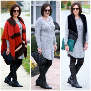 One Sweater Dress, Three Ways #FashionFriday