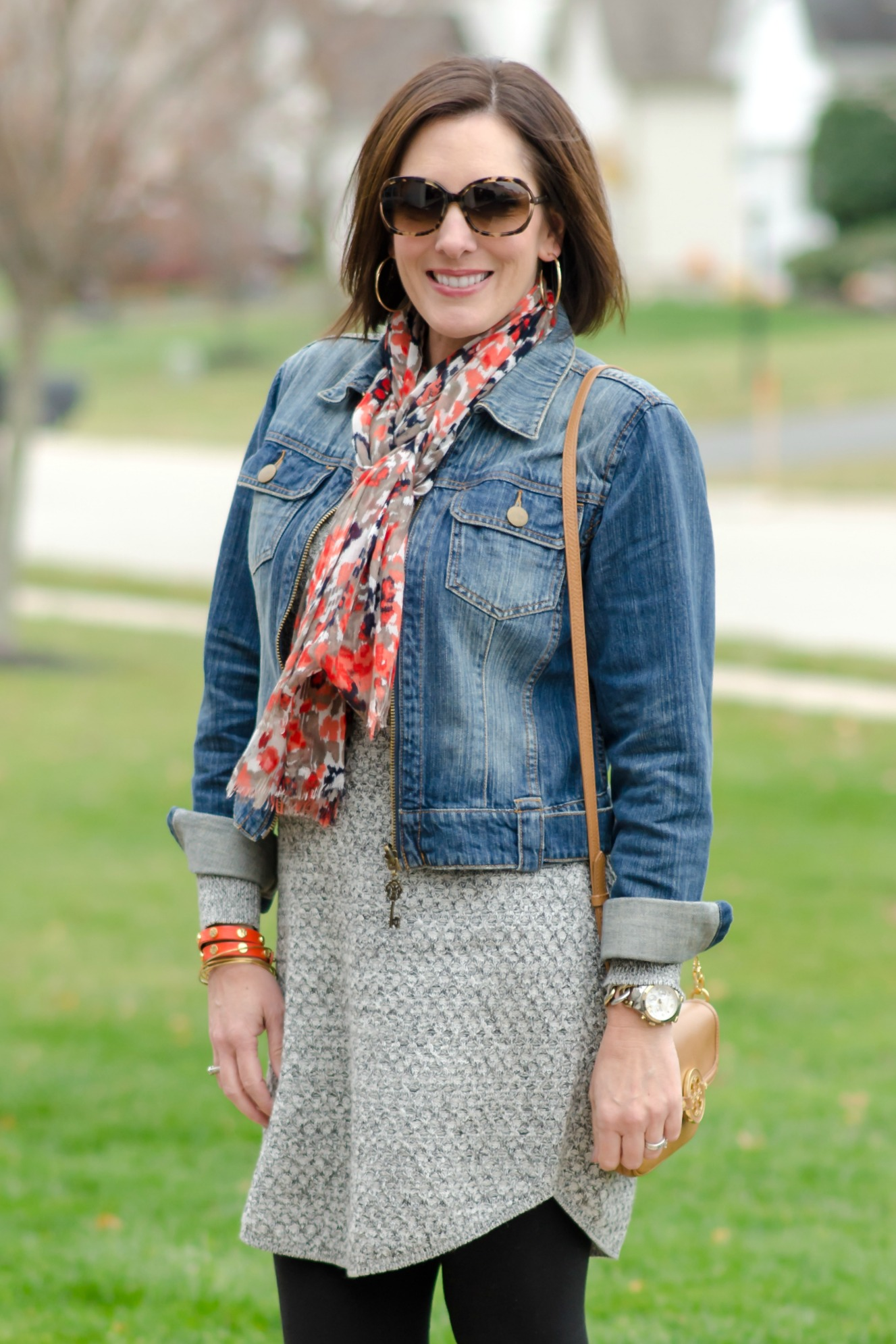 What I Wore: Sweater Dress   Denim Jacket
