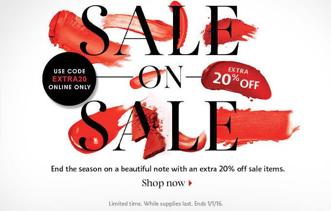 Sephora 20% off Sale