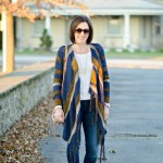 How to Wear a Drape Front Cardigan