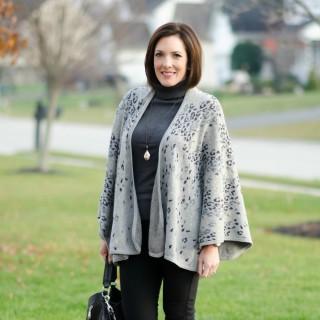 Winter Fashion for Work: Leopard Cape + Ponte Pants