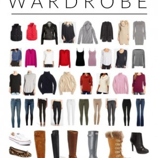 My 50-Piece Winter Capsule Wardrobe #FashionFriday