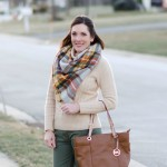 What I Wore: Army Green and Warm Ivory