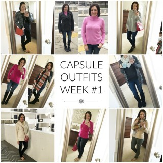 Capsule Wardrobe Week 1 Recap
