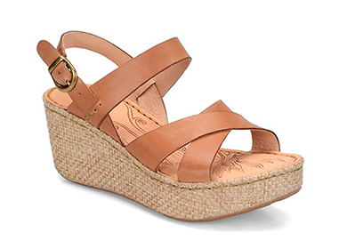 Neutral Wedge Sandals for Spring