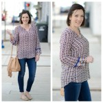 Spring Fashion: Print Split Neck Blouse