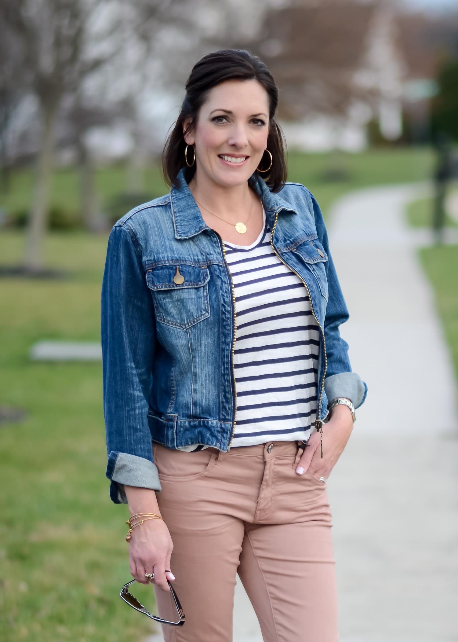 Blush Jeans + Denim Jacket