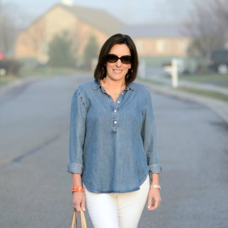 Chambray, White & Leopard + Bloomingdales DENIM DAYS Sale