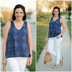 Old Navy Relaxed Split Hem Printed Top #FashionFriday