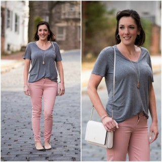 Spring Style Inspiration: Grey + Pink