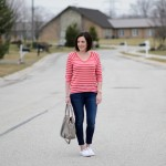 Casual Spring Outfit: Red, White & Blue