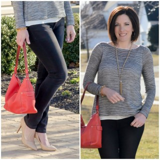Spring Date Night Outfit: Striped Cross-Back Tee