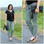 LOFT Mosaic Skinny Ankle Pants $18