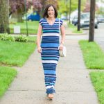 Casual Stripe T-Shirt Maxi Dress $20