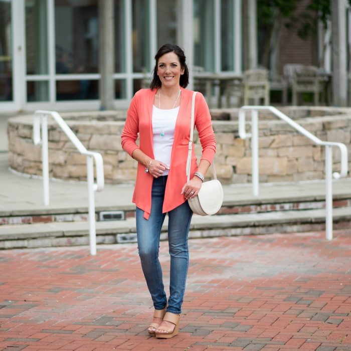 Coral Cardigan + $200 Stitch Fix Giveaway