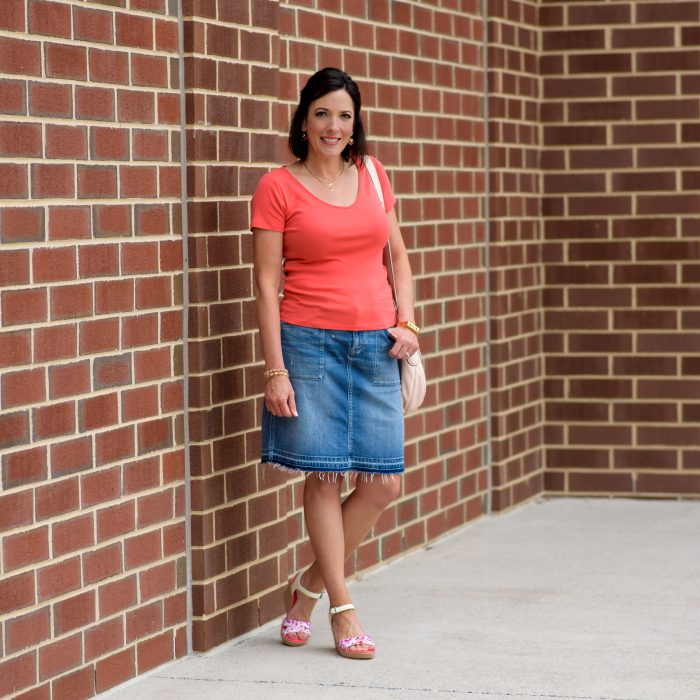 Casual Summer Outfit featuring Crocs Wedge Sandals