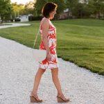 Floral Sleeveless Shift Dress