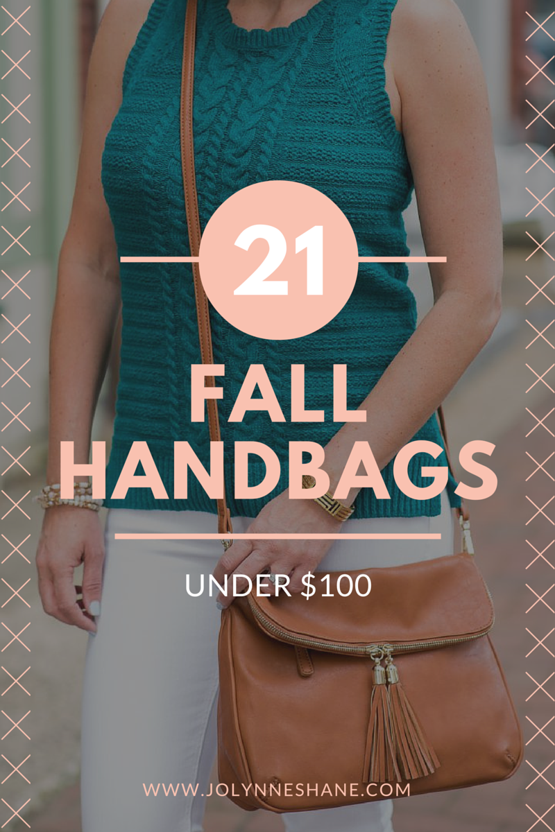 I've rounded up 21 fall handbags under $100 that are super cute and on trend, and the price tag won't break the bank!