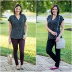 Two Ways to Wear a V-Neck Blouse