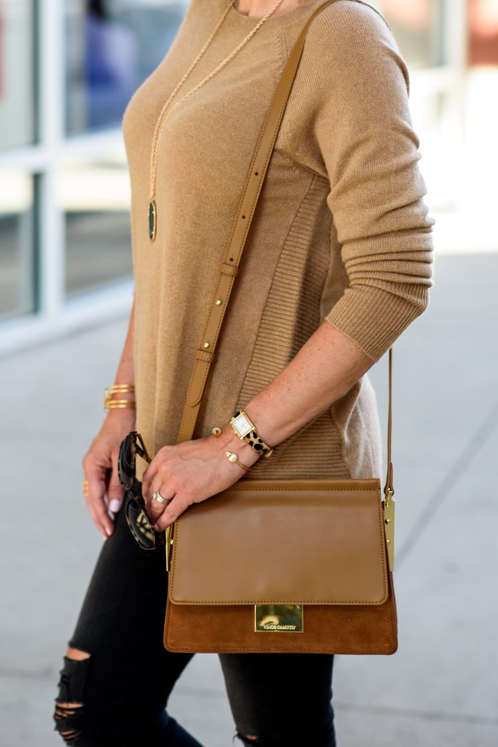 Fall Fashion Inspiration: Camel & Black Outfit with Animal Print