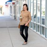 Camel & Black Outfit with Animal Print