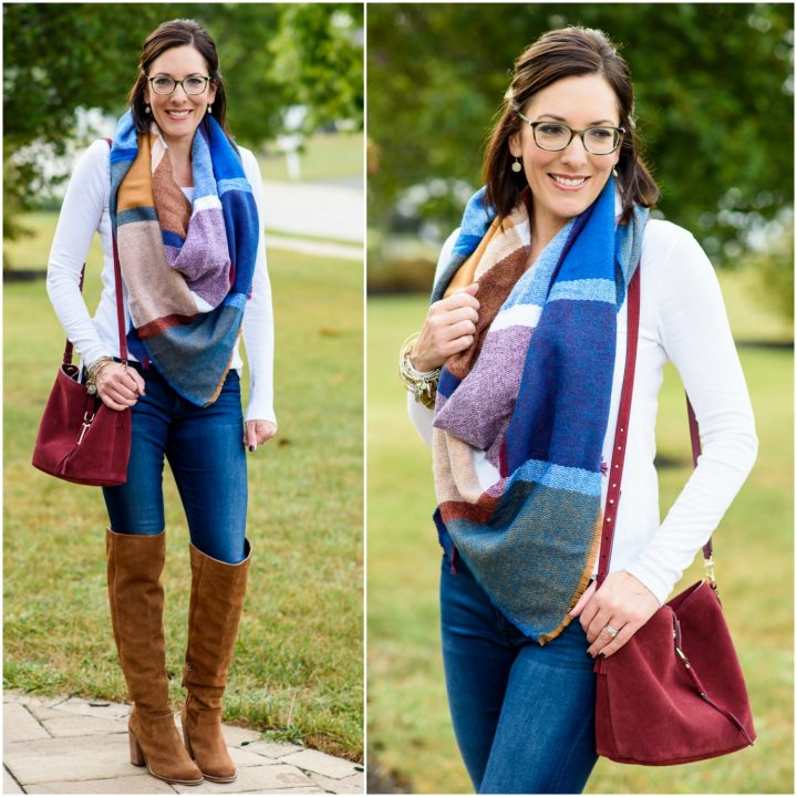Fall Fashion Inspo: Blanket Scarf + OTK Boots