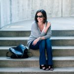 Bootcut Jeans + Cashmere Cocoon Cardigan
