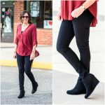 Cute & Affordable Black Wedge Booties