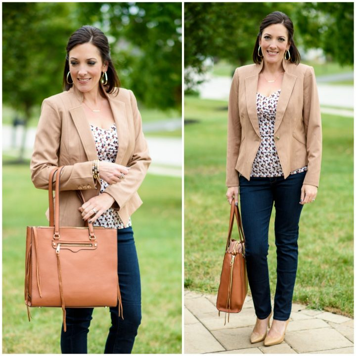 How to Wear a Blazer with Jeans and Heels