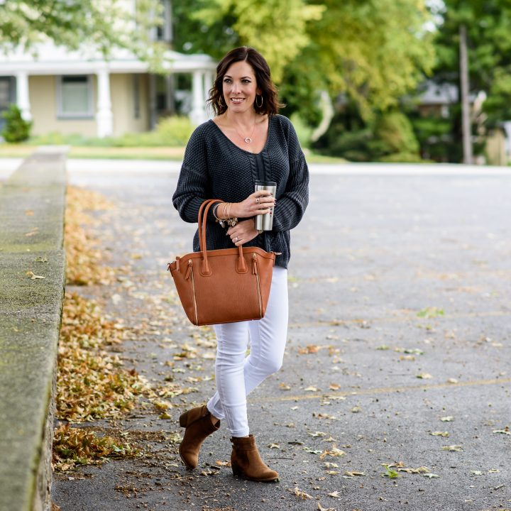 White Jeans Outfit for Fall