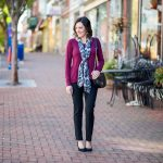 Fall Work Wear Outfit with LOFT Scuba Skinny Pants
