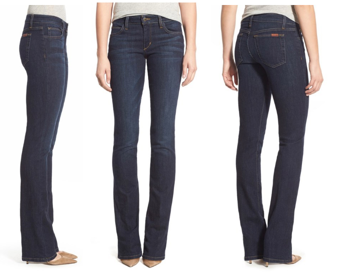 Women's short length bootcut jeans