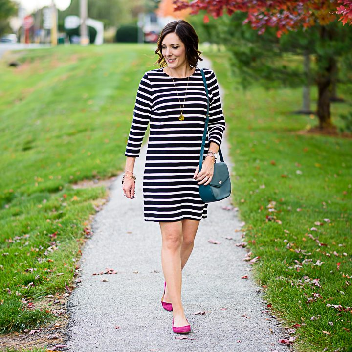 Black & White Striped Dress Styled Two Ways