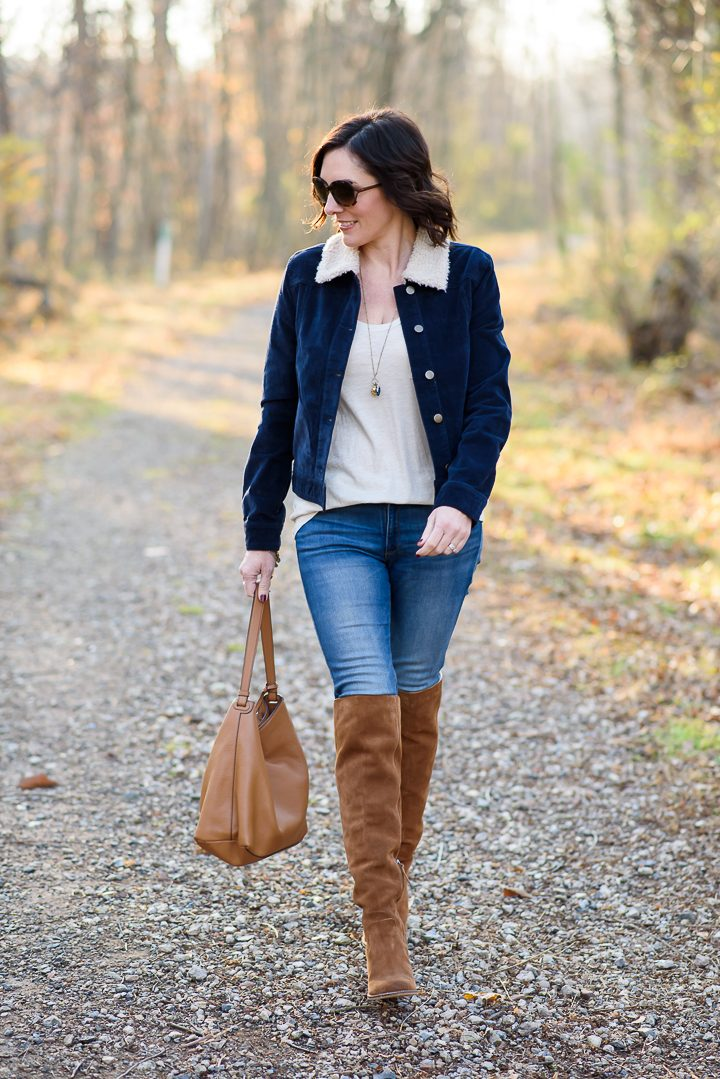 How to Wear Over-the-Knee Boots with Jeans