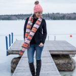 Pink Plaid in Maine