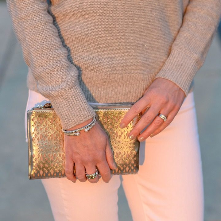 You can't go wrong with metallics for holiday style!