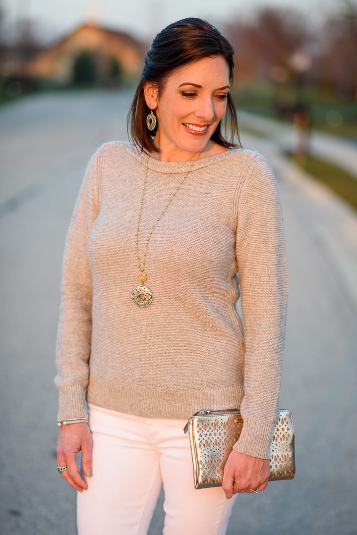 You can't go wrong with metallics for holiday style! Fashion for Women Over 40.