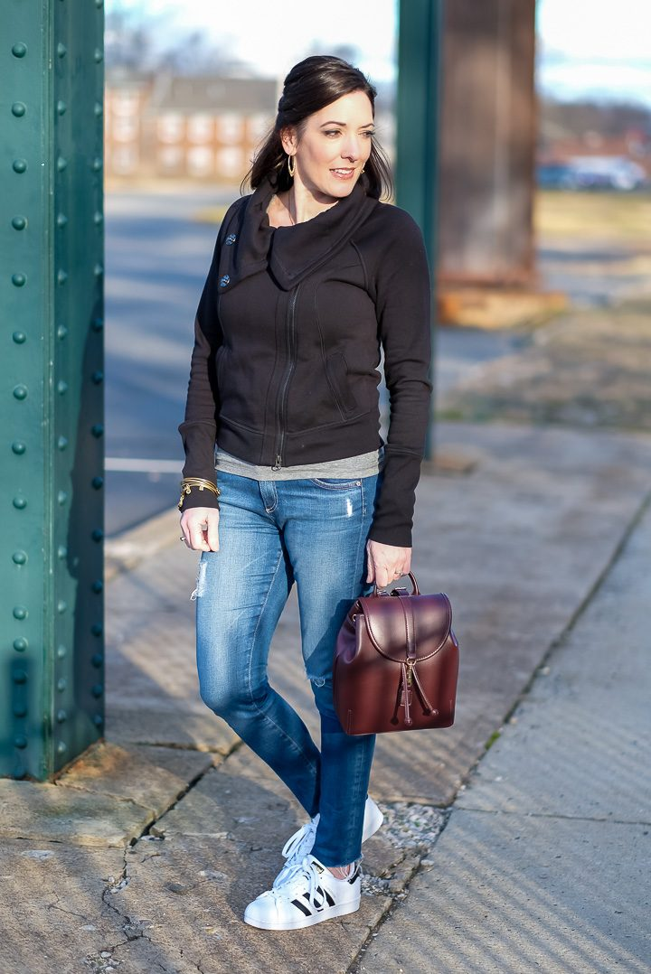 Weekend Style with Nordstrom: A casual weekend look for running errands and taking the kids to their sports events.