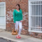 27 Days of Spring Fashion: Green & Coral