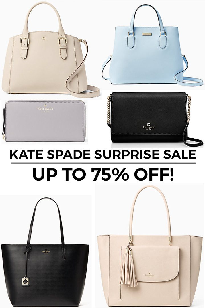 Kate Spade Surprise Sale: Up to 75% OFF!!