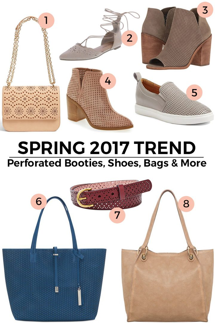 Spring Trend Alert: Perforated Booties, Shoes, Bags & More